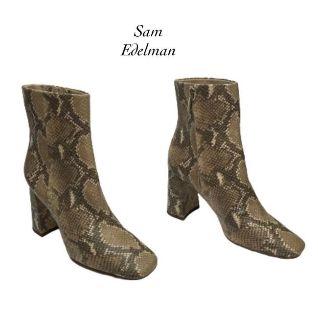 Item - Beige Codie Wheat Snakeskin Square Toe Ankle New Boots/Booties Size US 8 Regular (M, B)