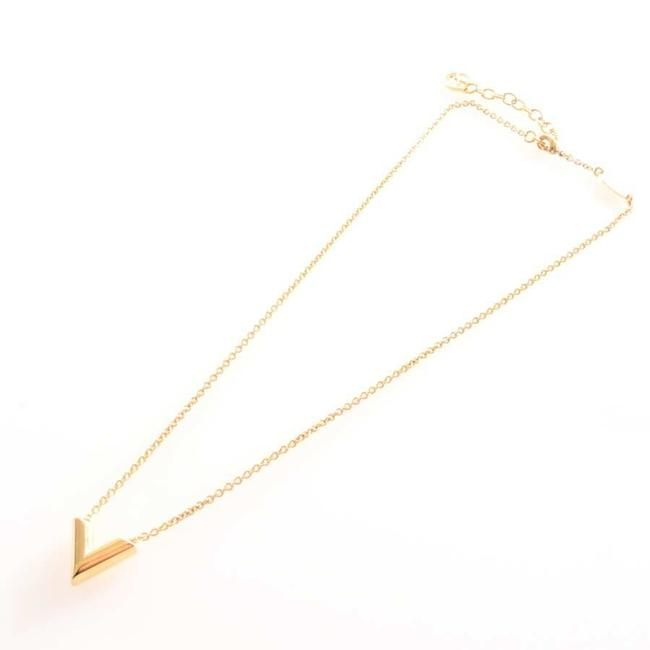 Item - Gold Essential V Chain Metal Necklace