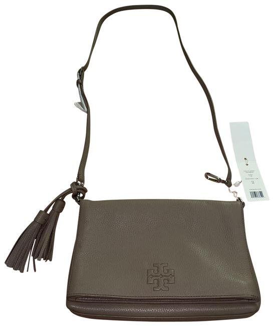 Item - Thea Foldover French Gray Leather Cross Body Bag