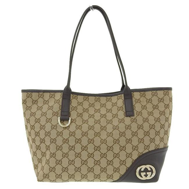 Item - Bag 169946 Brown Gg Canvas / Leather Tote