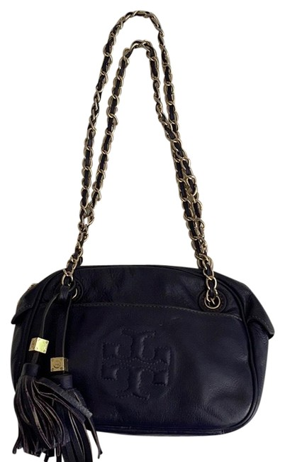 Item - Thea Chain Blue Leather Cross Body Bag
