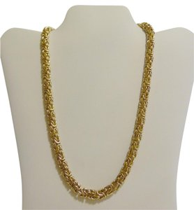 Veronese Collection Veronese Collection 20 Inch Reversible High Polish Byzantine Necklace with Spring Ring Clasp