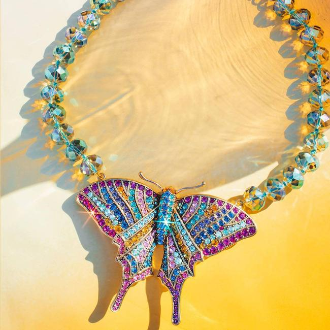 Item - Multicolor Butterfly Dreams Crystal Statement Necklace