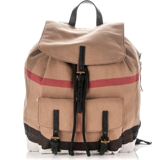 Item - New Classic Check Canvas Mega Check Brookdale Black Brown Backpack