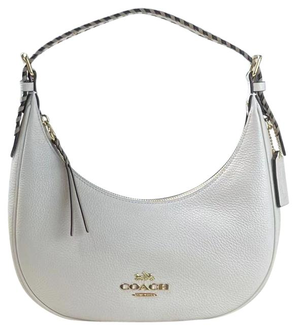 Item - Hobo C4108 Bailey with Whipstitch Refined Pebble Smooth Chalk Taupe Mul Leather Shoulder Bag
