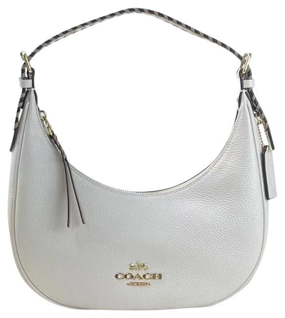Item - Hobo C4108 Bailey with Whipstitch Refined Pebble Smooth Chalk Taupe Multi Leather Shoulder Bag