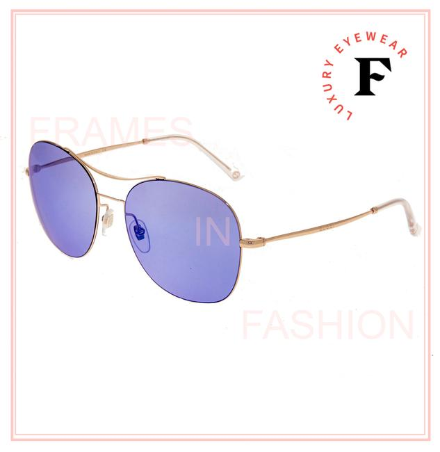 Item - Gold Lilac Techno Color 4253 Violet Round Steel Gg0501s Sunglasses