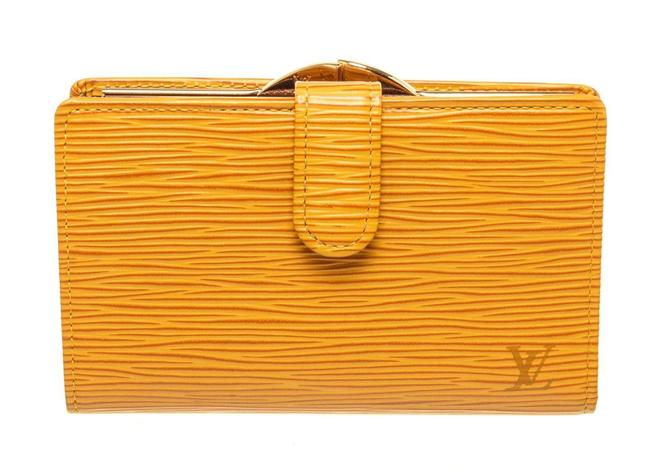 Item - Yellow Epi Leather Canvas French Wallet