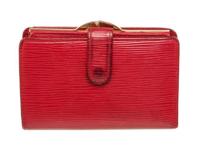 Item - Red Epi Leather French Wallet