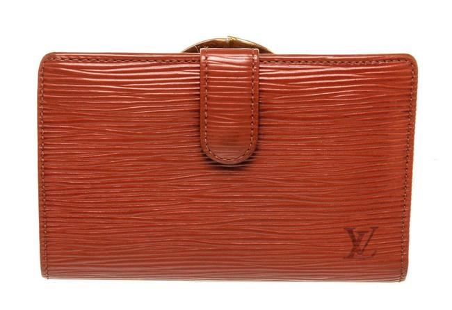 Item - Red Epi Leather Canvas French Wallet