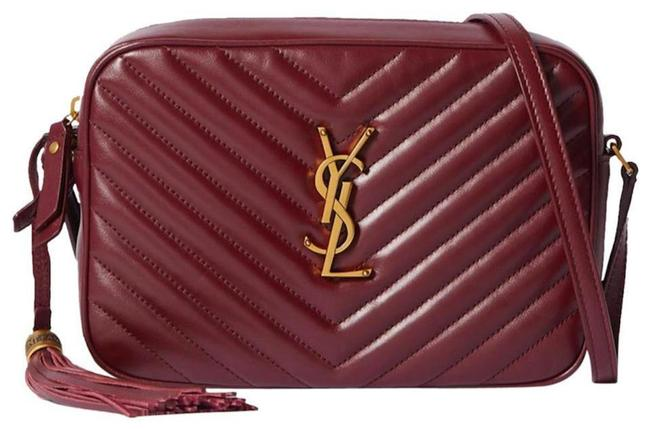 Item - Monogram Lou Camera Ysl In Quilted Burgundy Red Leather Cross Body Bag