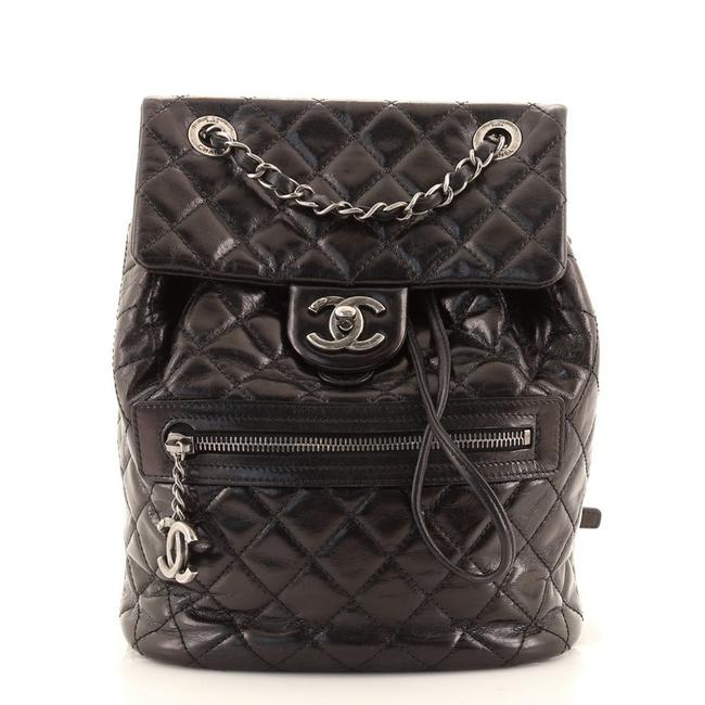 Item - Mountain Quilted Glazed Calfskin Small Black Leather Backpack