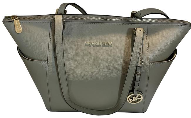 Item - East West Jet Set Truffle (Taupe) Leather Tote