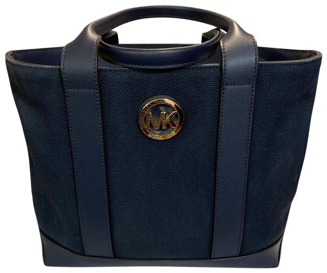 Item - Fulton Navy Canvas & Leather Tote