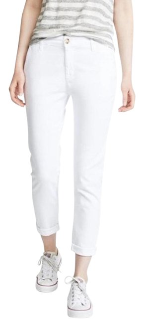 Item - White Light Wash New Twill Caden Mid Rise Tailored Straight Crop Trouser/Wide Leg Jeans Size 25 (2, XS)