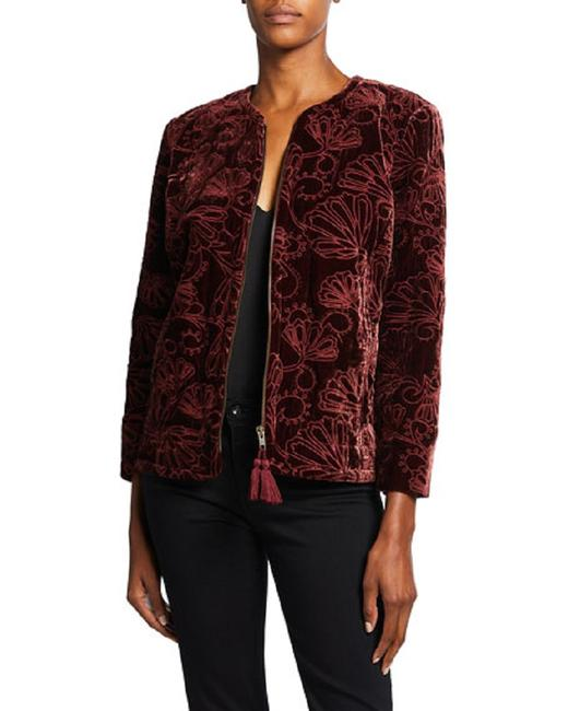 Item - Cooper Quilted Coat Embroidered Zip Front Jacket Size 6 (S)