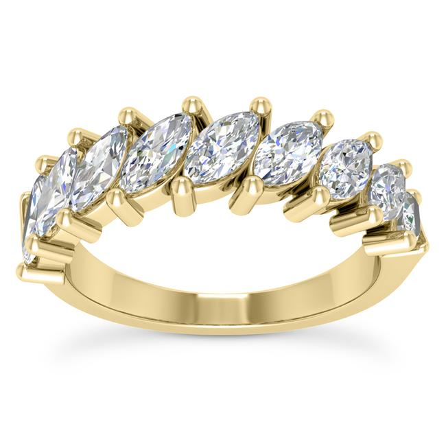 Item - 14k Yellow Gold 1.50ct Ladies Marquise Cut Band In Ring
