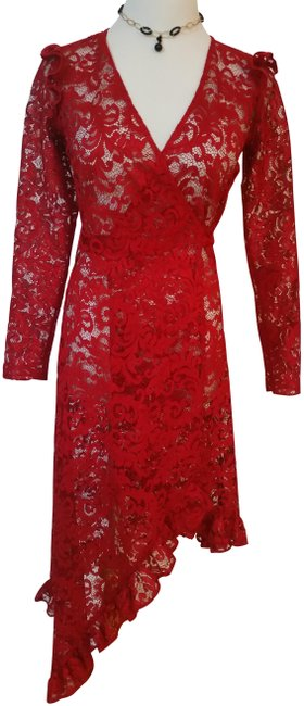 Item - Red Long Cocktail Dress Size 4 (S)