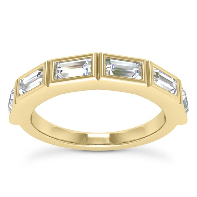 Item - 14k Yellow Gold 0.75ct Ladies Baguette Shaped Band In Channel Setting Ring
