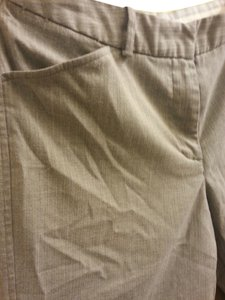 Worthington Striped Work Trouser Pants Light Grey