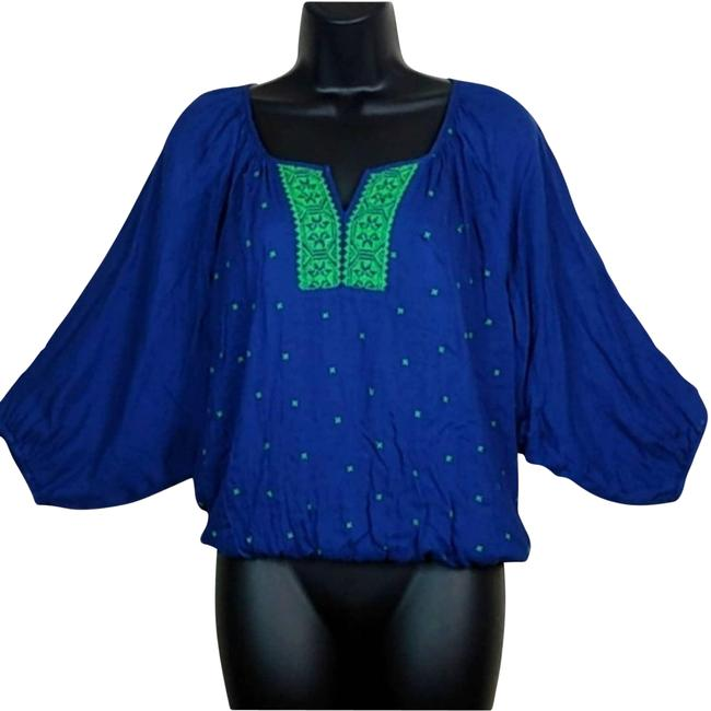 Item - Green Stitched Bright & Blouse Size 2 (XS)