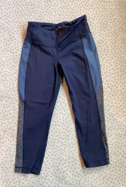 Item - Navy Blue and Gray Legging with Colorblock Activewear Bottoms Size 4 (S)