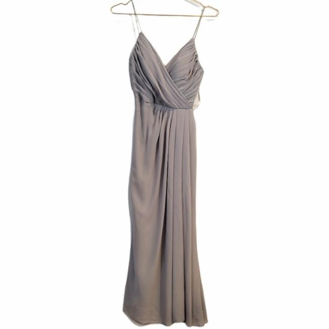 Item - Gray A Line Bridesmaid Gown Long Formal Dress Size 0 (XS)