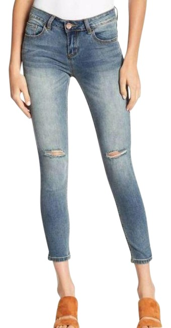 Item - Blue Light Wash Distressed Ankle Skinny Jeans Size 26 (2, XS)
