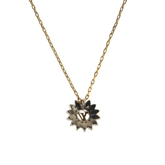 Item - Gold Starlight Pendant Metal and Crystal Necklace