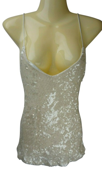 Item - Ivory Women's Sequin Moonlight Camisole Tank Top/Cami Size 2 (XS)