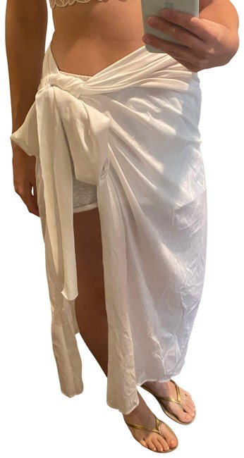 Item - White Cotton Pareo Cover-up/Sarong Size 4 (S)