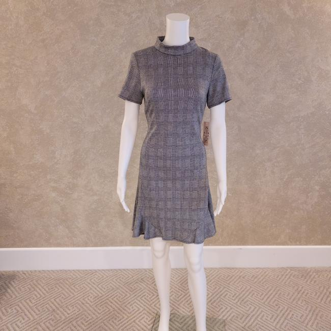 Item - Gray By Plaid Sheath Short Casual Dress Size 4 (S)