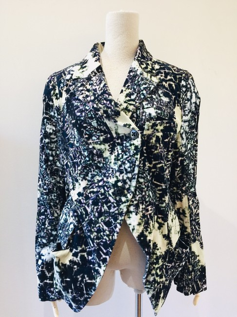 Item - Multiple Multi Color Abstract Jacket Size 8 (M)