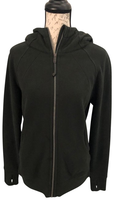 Item - Olive Green Scuba Hoodie Activewear Size 10 (M)