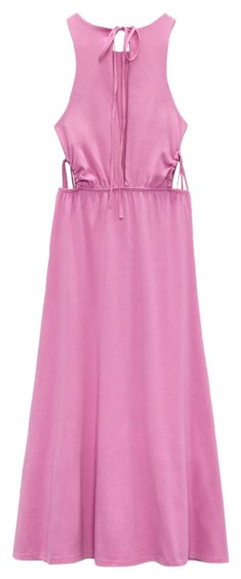 Item - Pink Cut Out Mid-length Casual Maxi Dress Size 12 (L)