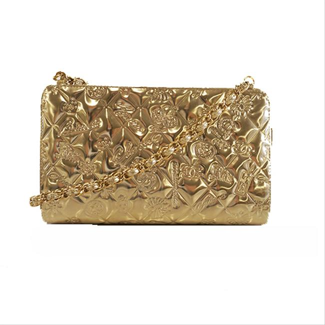 Item - Icon Women's Gold Patent Leather Shoulder Bag