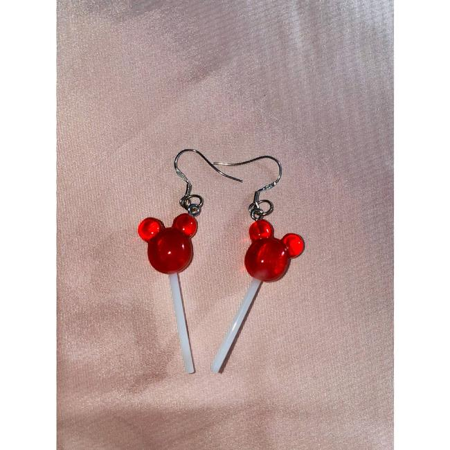 Item - Red Mickey Mouse Dangle Disney Disney Mickey Mouse Earrings