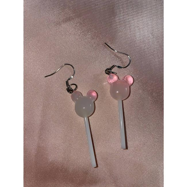 Item - Pink Mickey Mouse Dangle Disney Adults Mickey Mouse Earrings