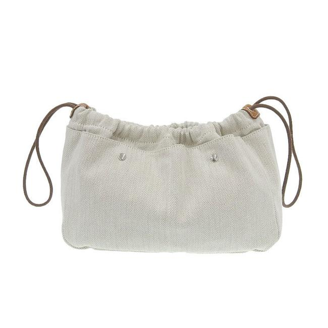 Item - Furubi 25 Pouch In Engraved Natural / Natural Toile Chevron Clutch