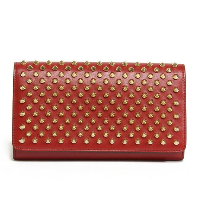 Item - Red Color Long Leather Studs Ladies | Kawaii Special Price0409 Wallet