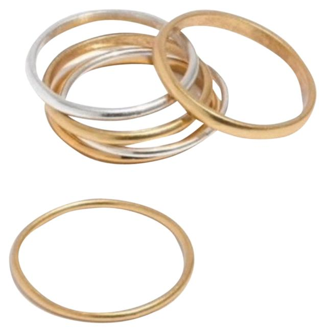 Item - Gold and Silver Delicate Stacking Set Ring