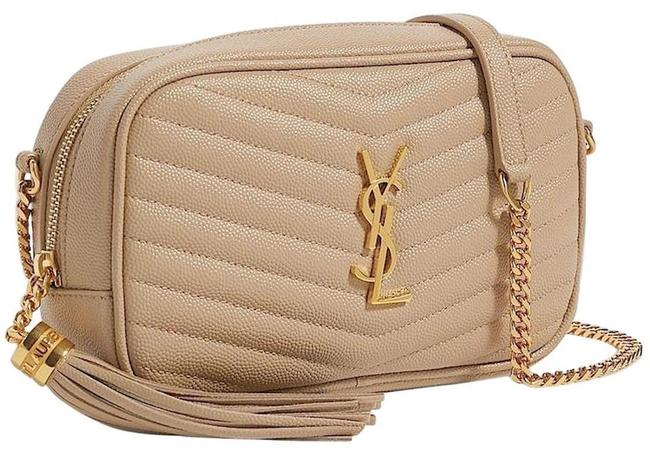 Item - Crossbody Lou New Ysl Quilted Mini Camera Purse Beige Leather Shoulder Bag