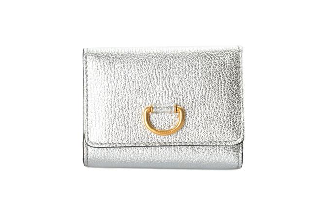 Item - Silver Women's Textured Leather Bifold Wallet