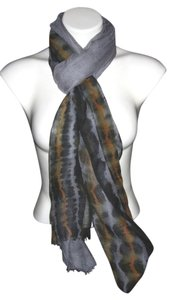 Gray Black Gold Solid #115 Scarf Shawl Cashmere Silk Risdarling / Pashmina