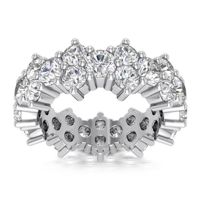 Item - 14k White Gold 3.40ct Ladies Round Cut Eternity Band In All Sizes Ring