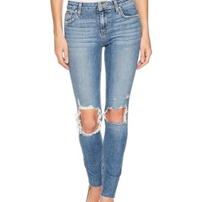 JOE'S Jeans Blue Distressed The Icon Mid-rise Ankle Skinny Jeans Size 30 (6, M) JOE'S Jeans Blue Distressed The Icon Mid-rise Ankle Skinny Jeans Size 30 (6, M) Image 1