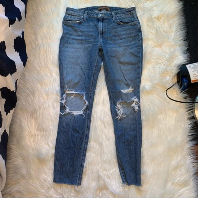 JOE'S Jeans Blue Distressed The Icon Mid-rise Ankle Skinny Jeans Size 30 (6, M) JOE'S Jeans Blue Distressed The Icon Mid-rise Ankle Skinny Jeans Size 30 (6, M) Image 2