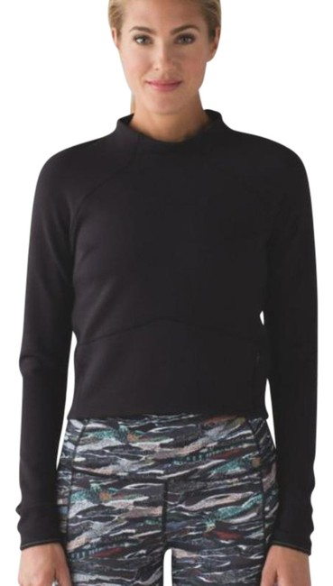 Item - Black Hill and Valley Mock Neck Activewear Top Size 4 (S)