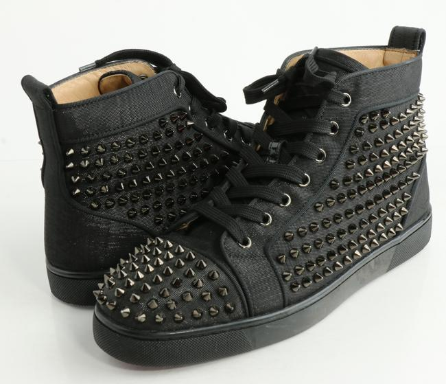 Item - Black Louis Allover Spikes High Top Sneakers Shoes