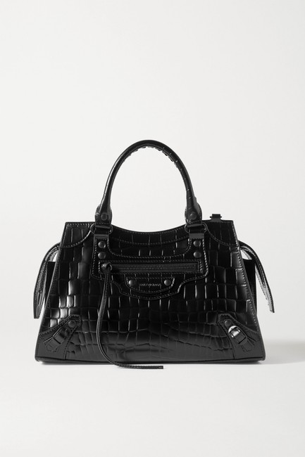 Item - Neo Classic City Small Croc-effect Tote Black Leather Shoulder Bag